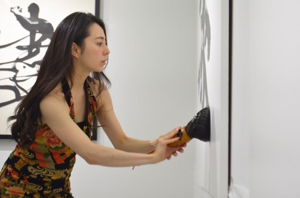 東京銀座で開催中の『Ink Art Show』にてパフォーマンスしました。